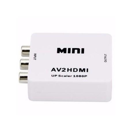 Convertidor escalador de RCA a HDMI AV2HD