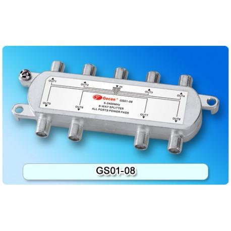 Divisor de señal 1x8 2.4 GHz voltaje todos los puertos